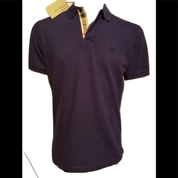0d2211ce9 Shirts | Burberry Brit Men Dark Royal Purple Polo Shirt | Poshmark